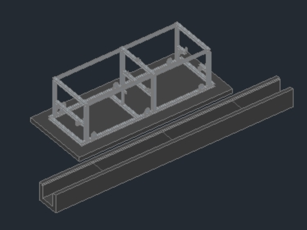 Structure lng truck loading skid 001-002-003