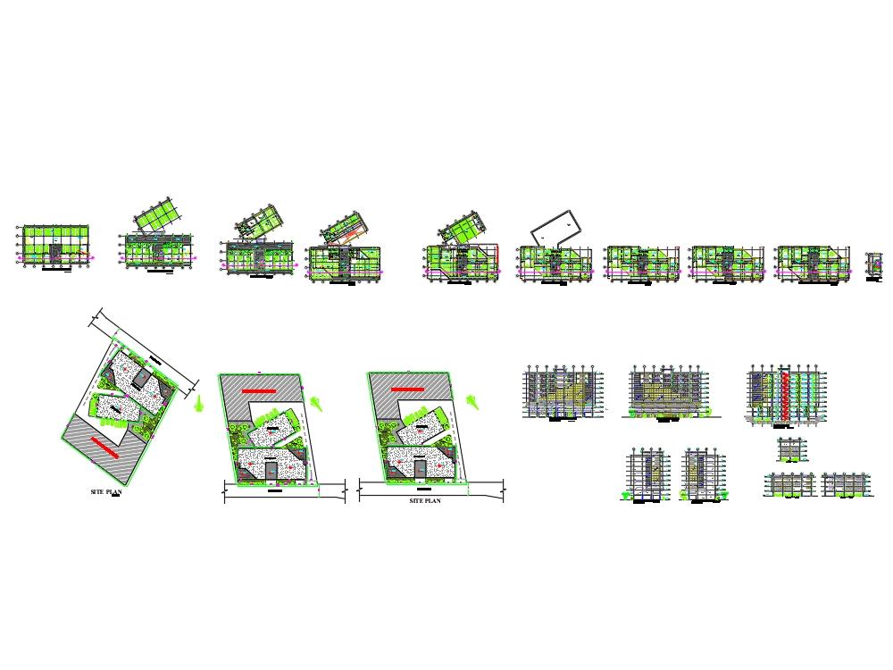 Diseño arquitectónico del edificio de oficinas ota