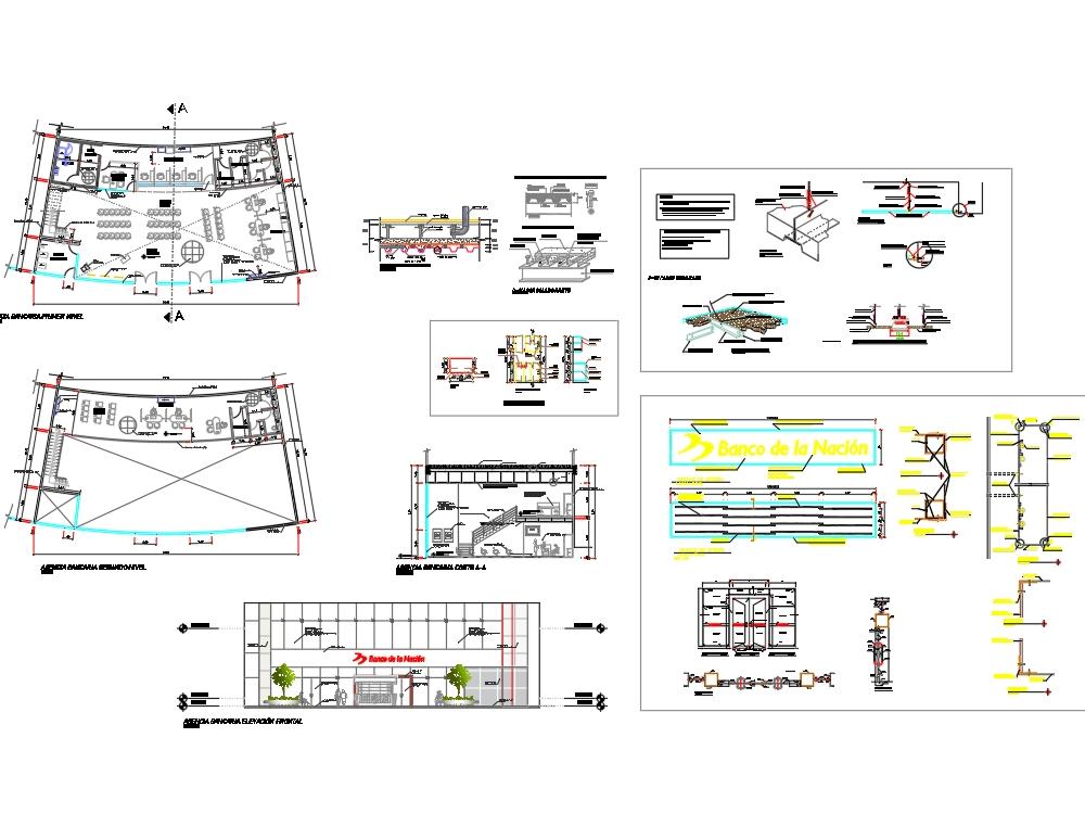 Proyecto arquitectónico agencia bancaria