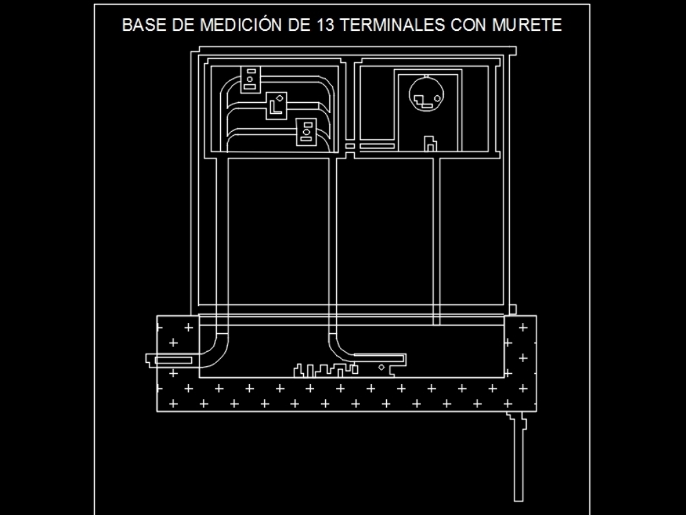 Base 13 terminals with low wall