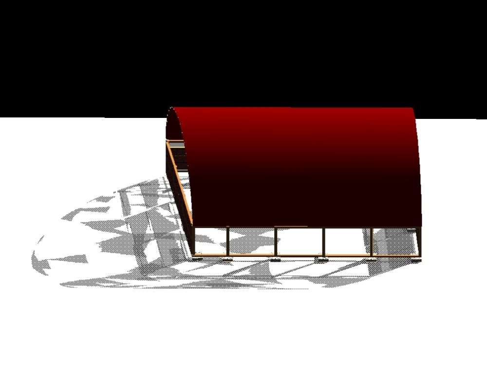 Plano 3d modelado de un cobertor para maquinarias