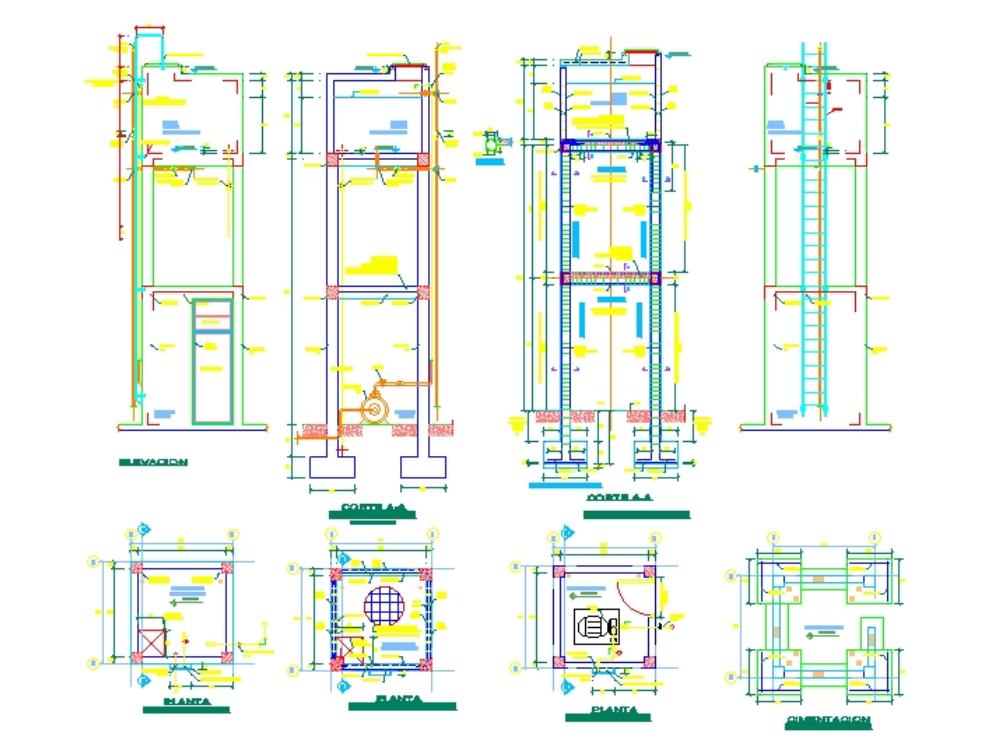 Diseño de tanque elevado en una edificaciones