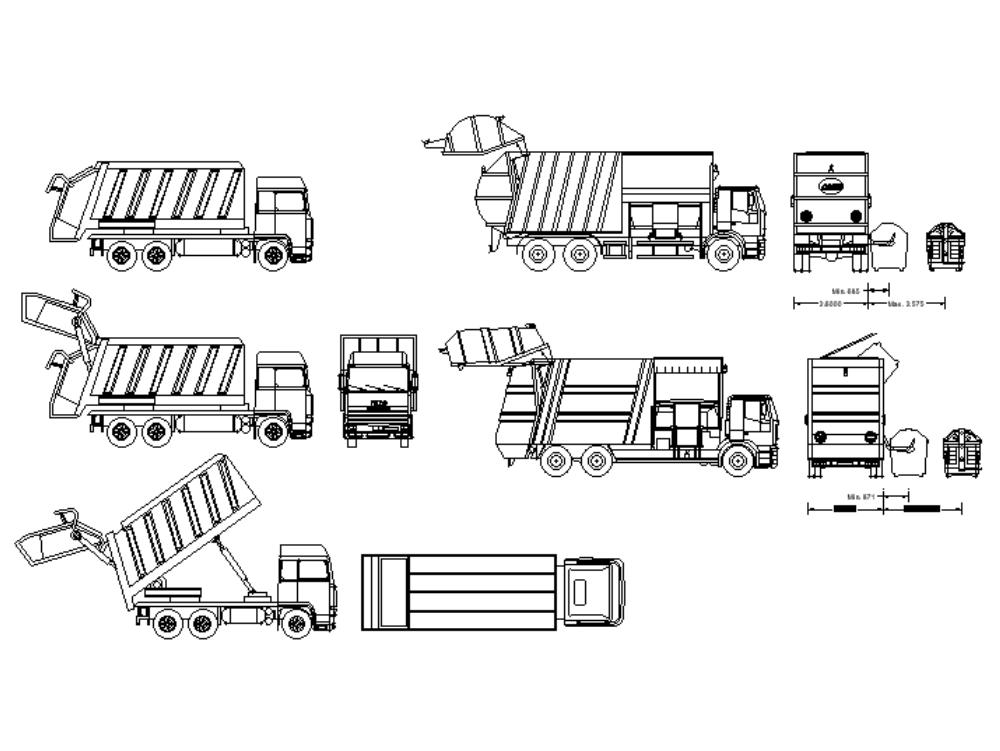Garbage truck or vehicle