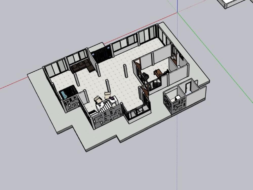 Casa modelo para urbanización