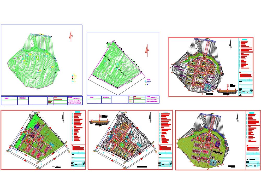 Plano del sitio de la universidad Tvet y plan de trabajo del sitio