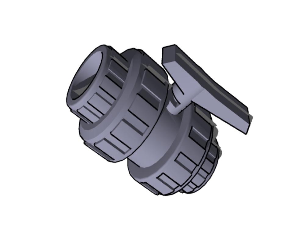Double union nut valve