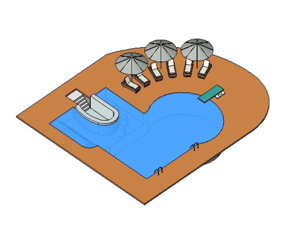 Pool project in revit
