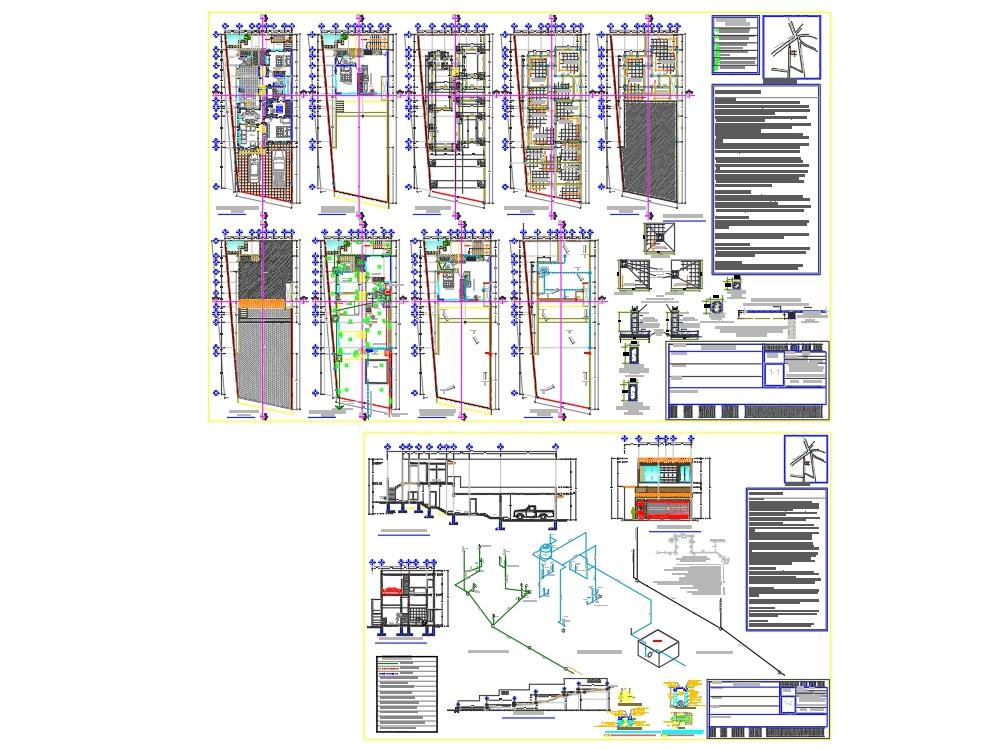 Proyecto arquitectonico casa habitación 140m2
