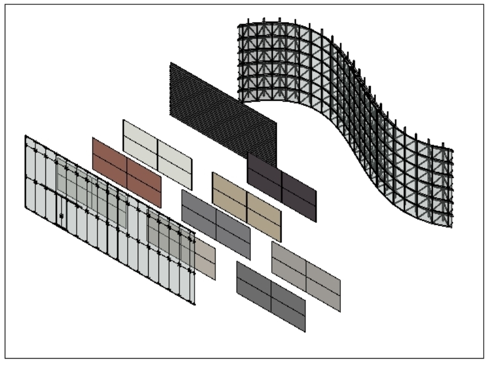 Family of curtain walls in revit