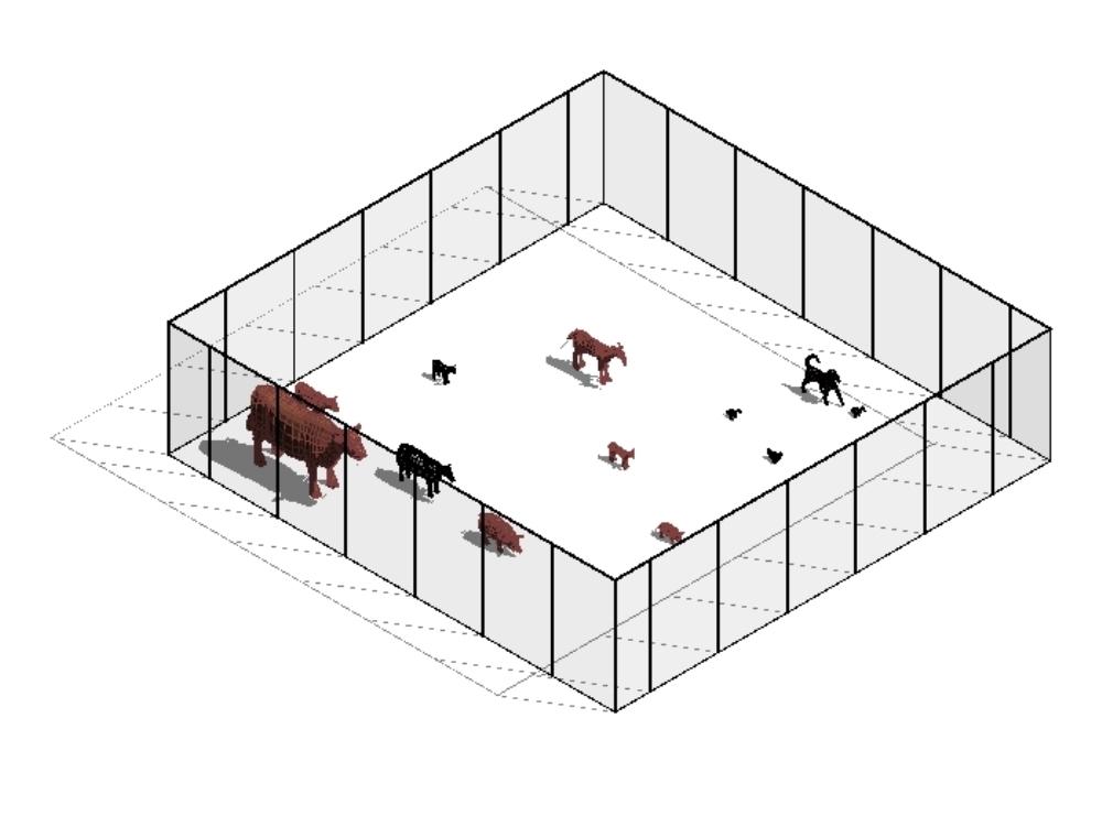 A beautiful enclosure for pets