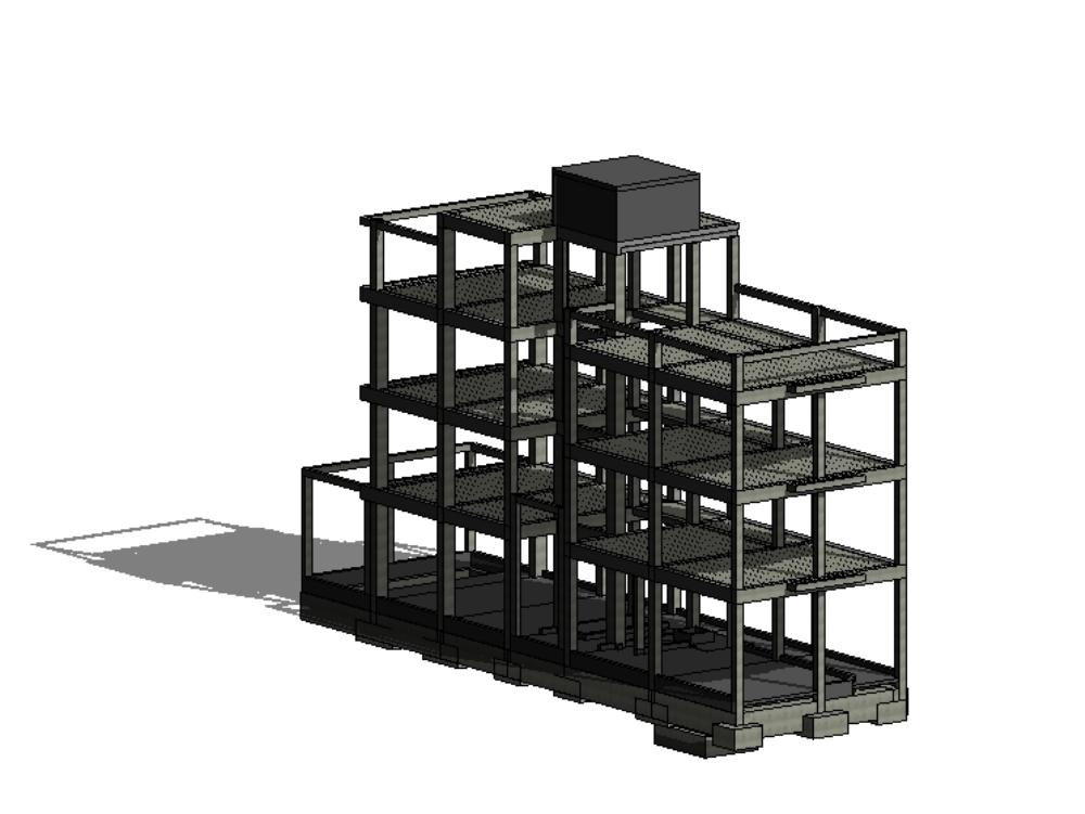 4-storey building structure model