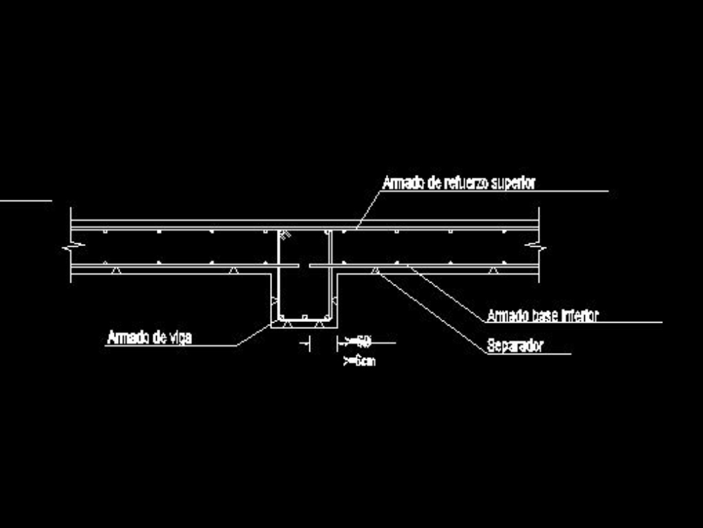 20x60 beam assembly with rod example