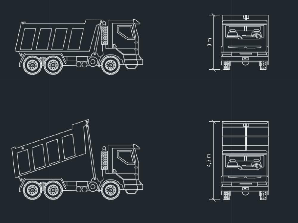 Industrial work truck