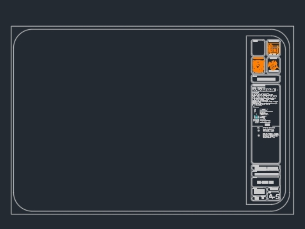 Plan footer for use in architectural work