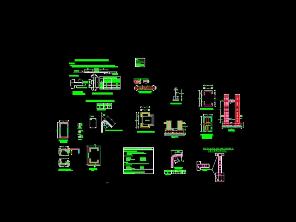 Estructuras de un ascensor - planos