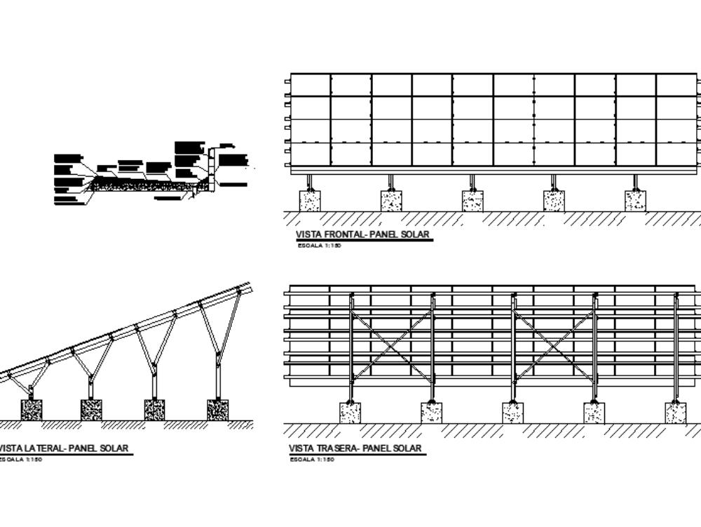 Detalles de paneles solares- plano ecotecnologias
