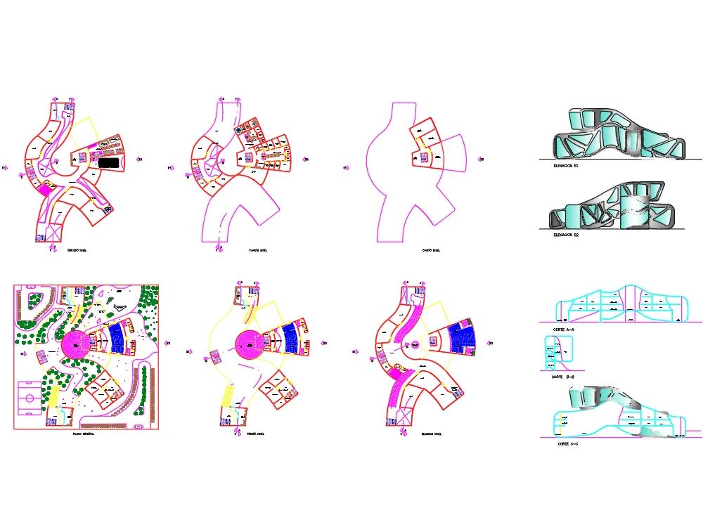 Escuela profesional de arquitectura aplicando teorías complejas en arquitectura