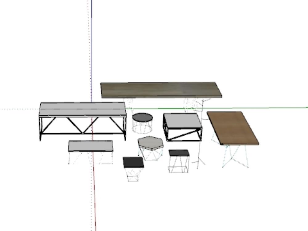 Diseño moderno de mesas de acero