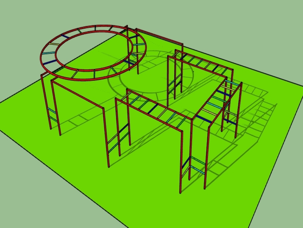 3d children's game (handrail circuit)