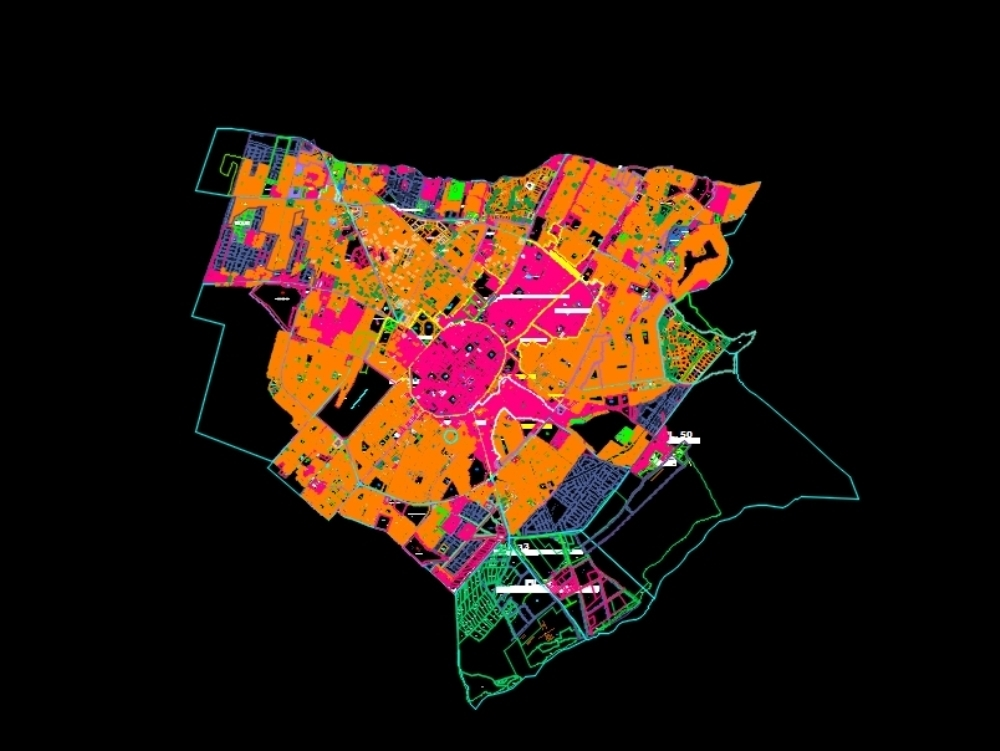 Updated map of the trujillo cadastre.