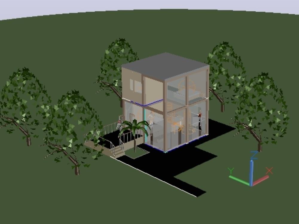 3d single family house