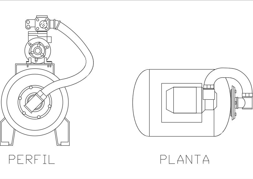 Sistema de presión; hidroneumático horizontal.