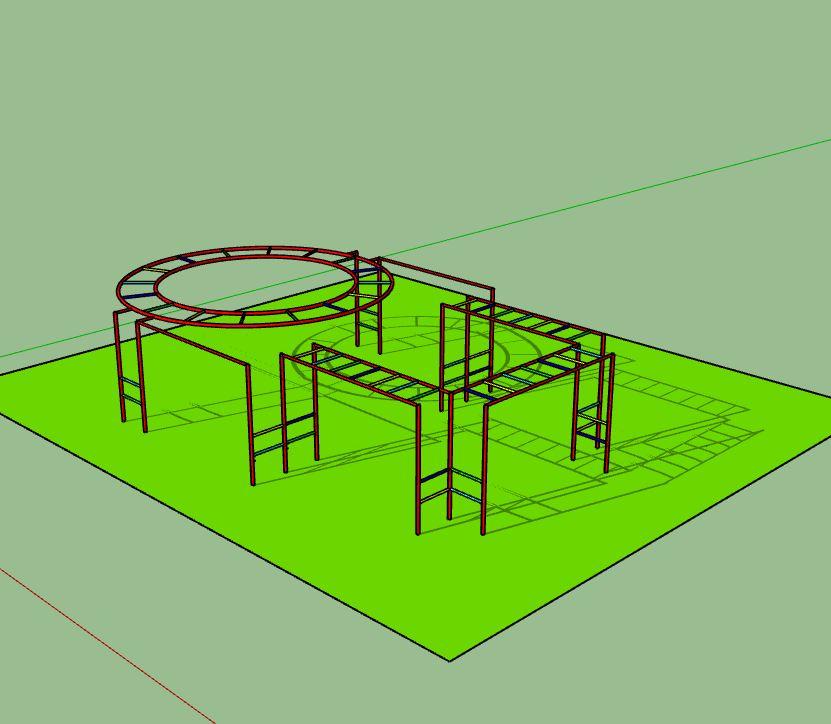 Handrail circuit children's game
