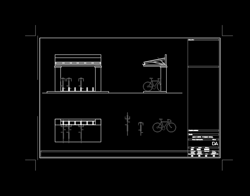 Bicycle parking autocad