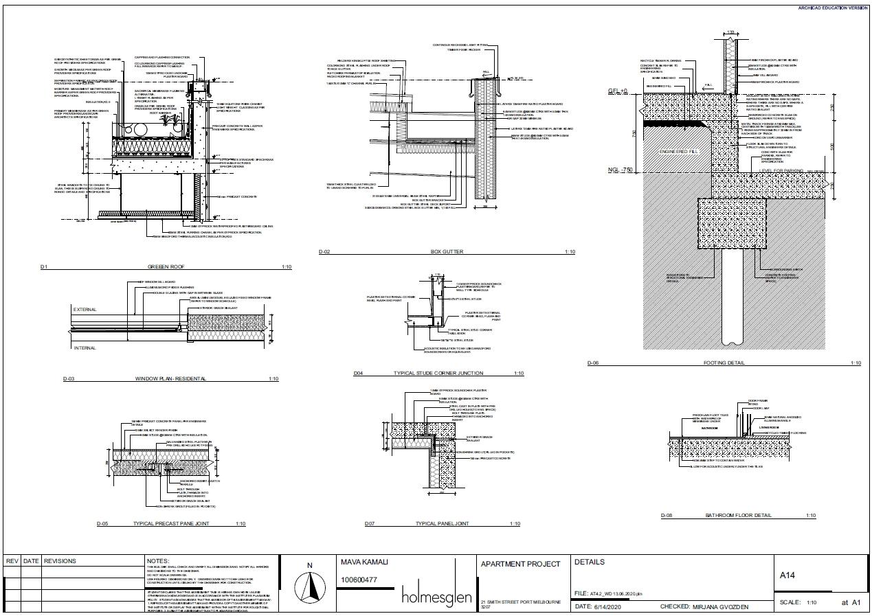 Door schedule -commercial building