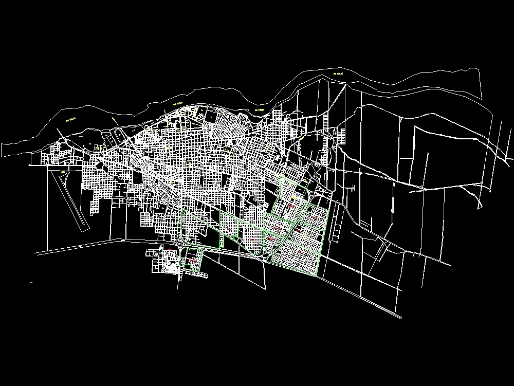 Map of the city of santiago del estero