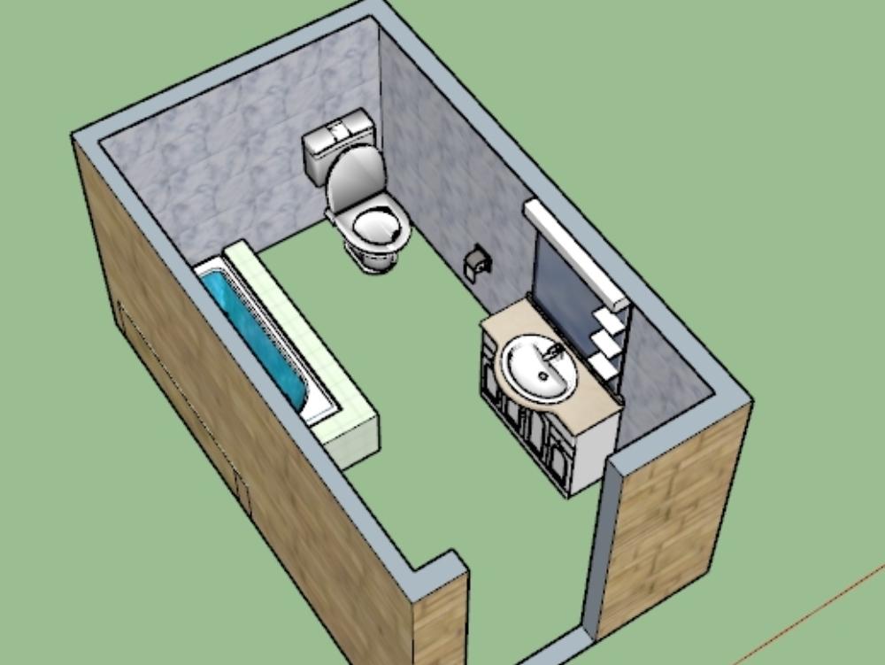 Diseño de baño de jardín exterior