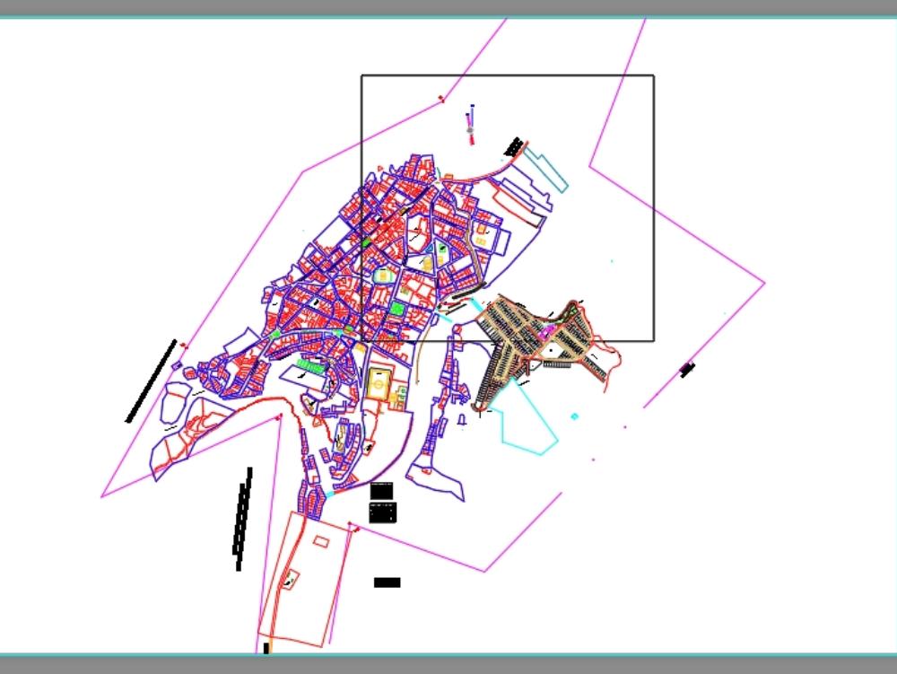 Cadastral map bellavista camargo municipality