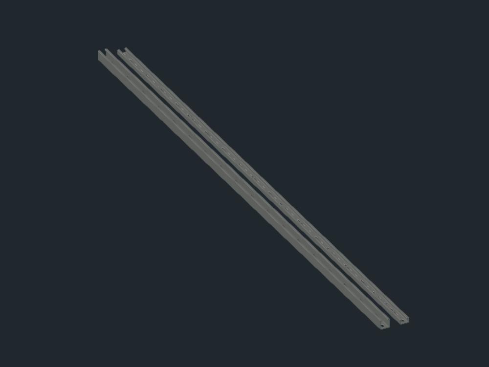 Perfil metálico galvanizado 40x20x3mm