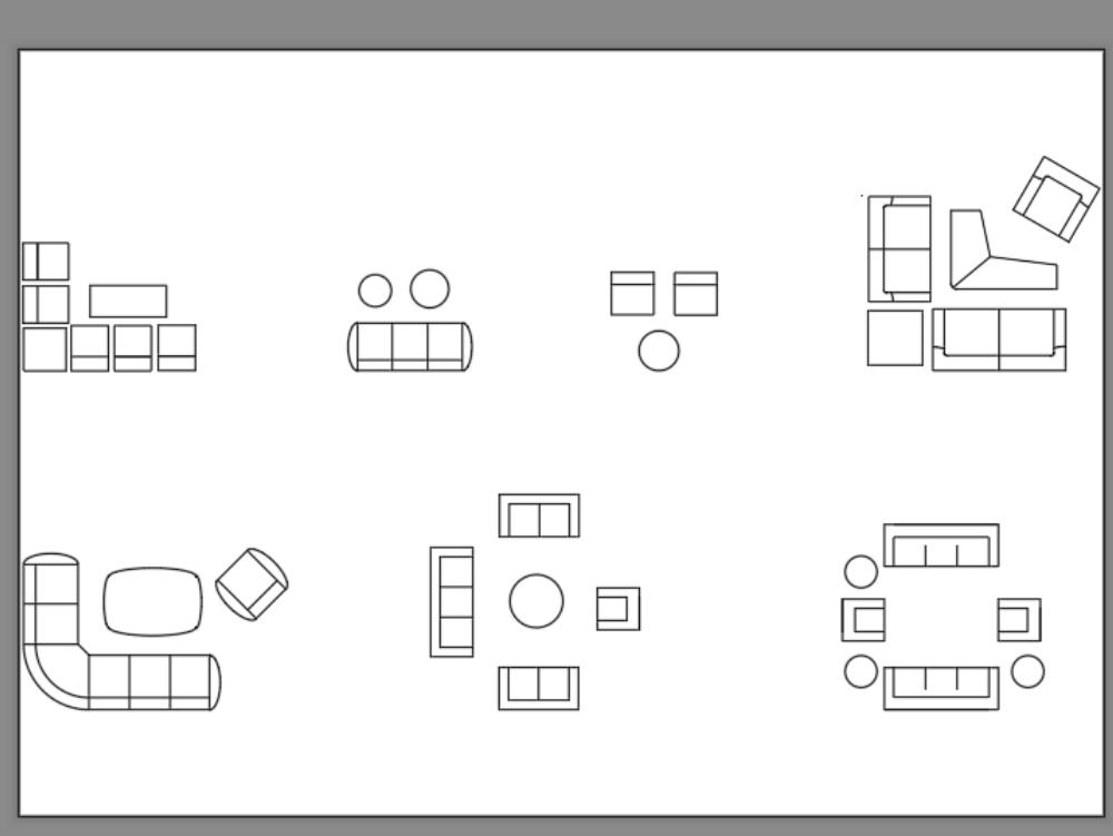 Conjunto de mobiliario - sala estar