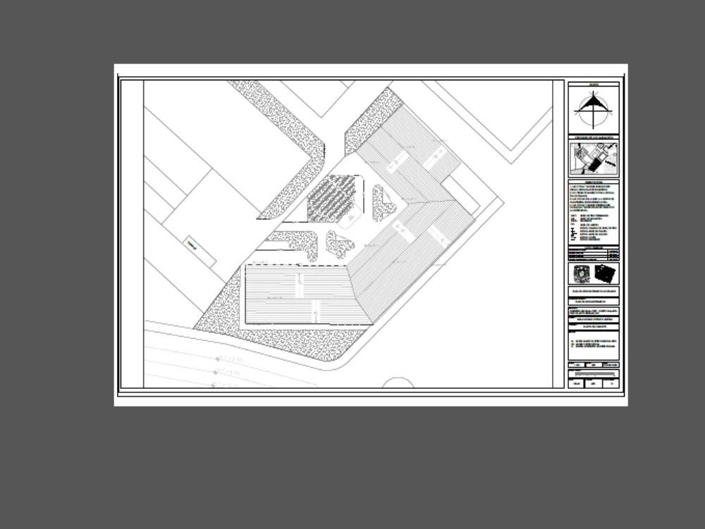Planta arquitectonica de cafeteria y cafetales