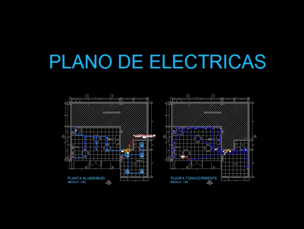Electrical plan commercial stores