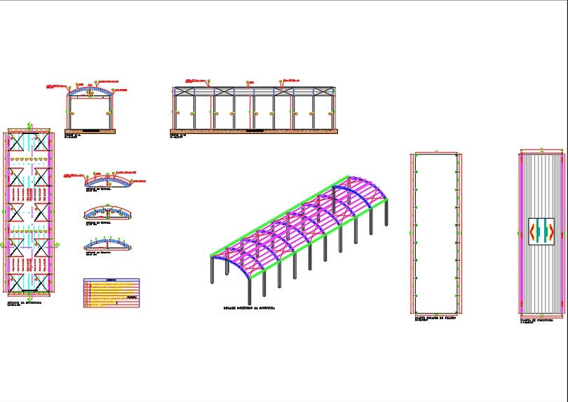Diseño de cobertizo de estructura metálica