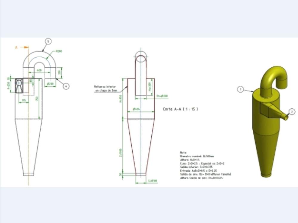 Hydrocyclone design for solid and liquid