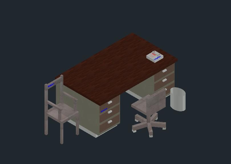 Mesa de trabajo de oficina administrativa
