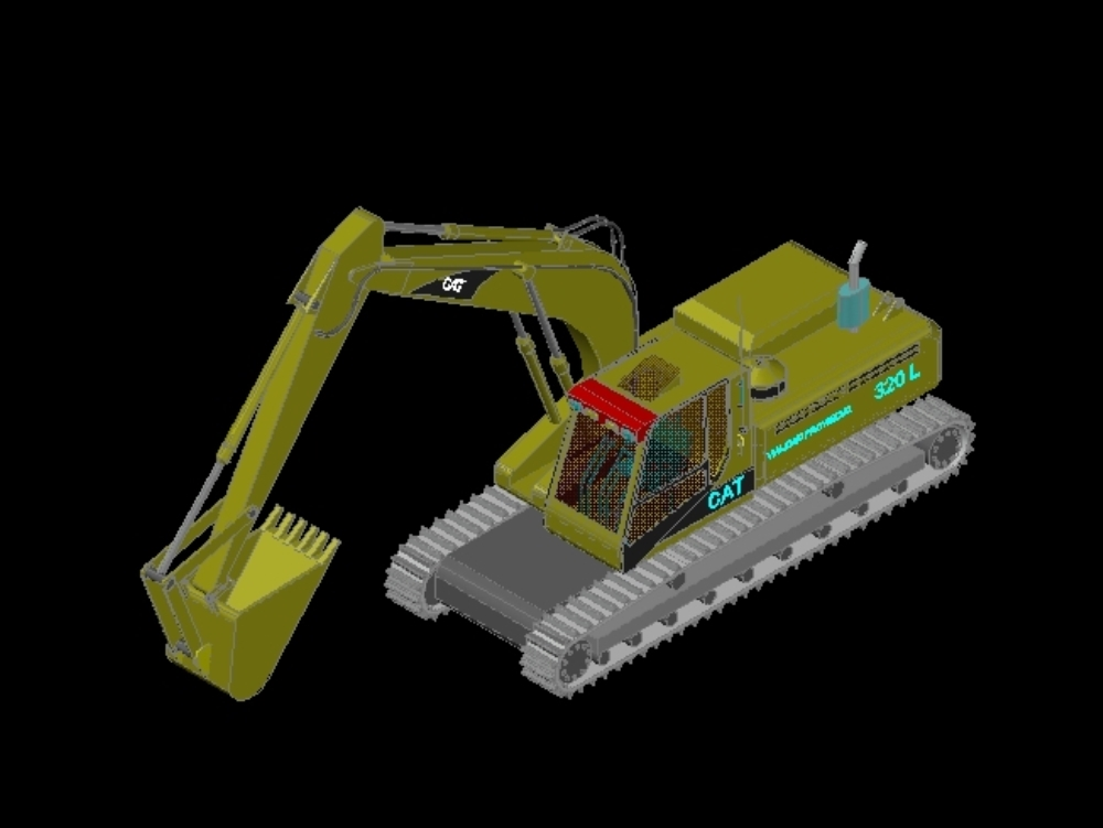 Backhoe loader for mining and cargo