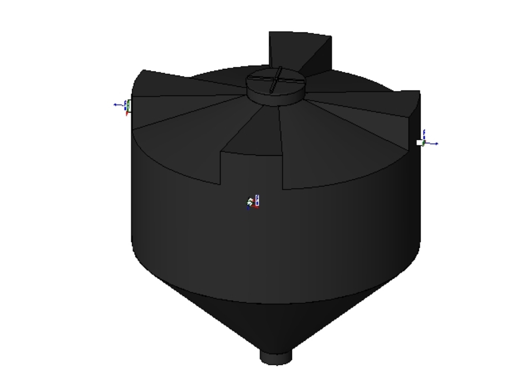 Rotoplas biodigester for revit models