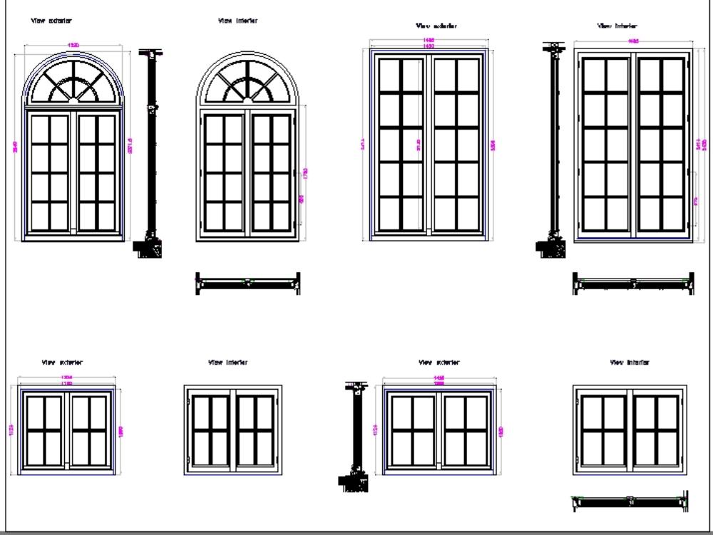 Windows plan details architectural