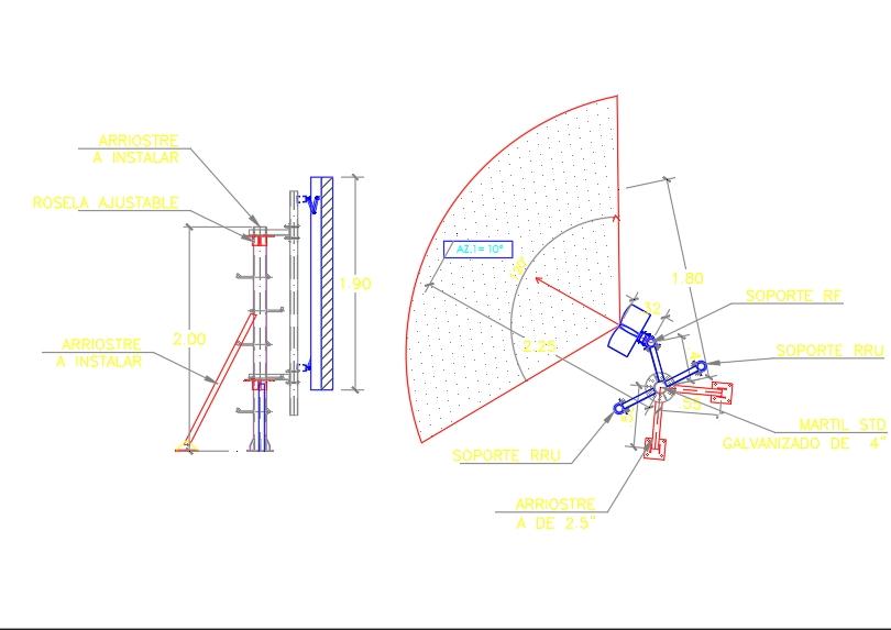 Soporte para antenas de comunicaciones