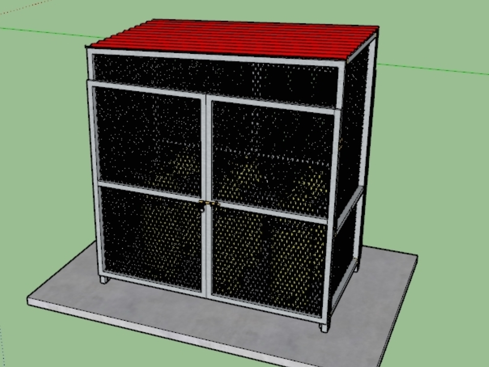 3d modeling of a gas container for urban areas