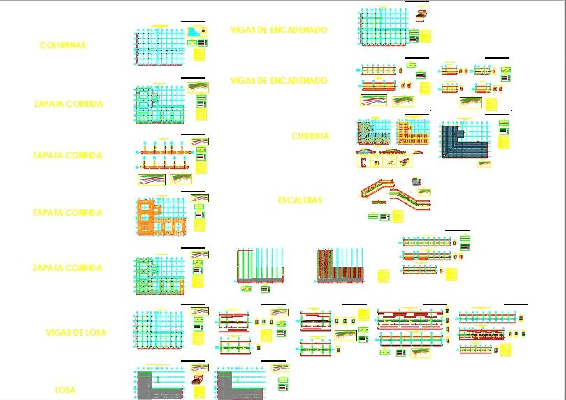 Unidad educativa planos estructurales