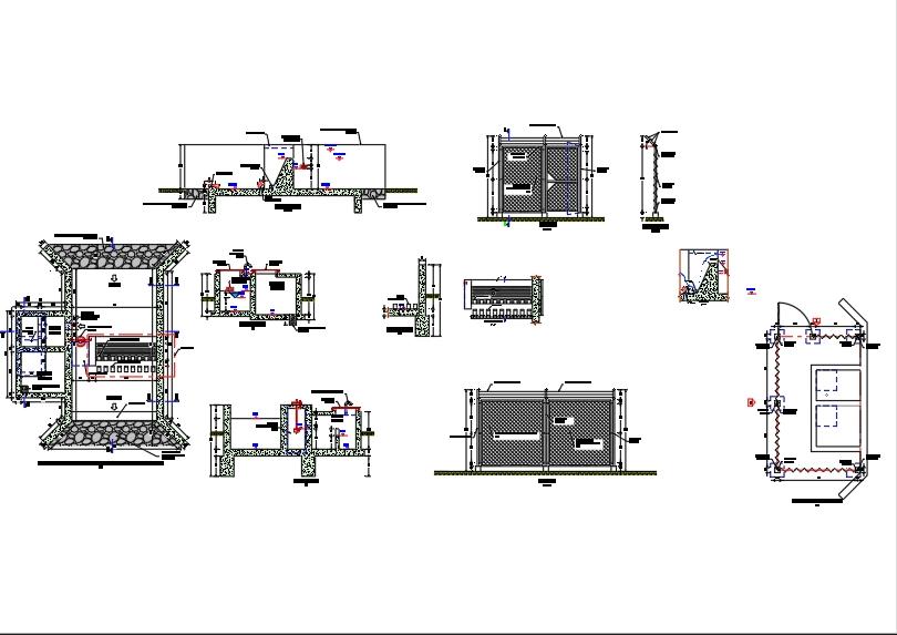 Planos de arquitectura y distribución de bocatoma