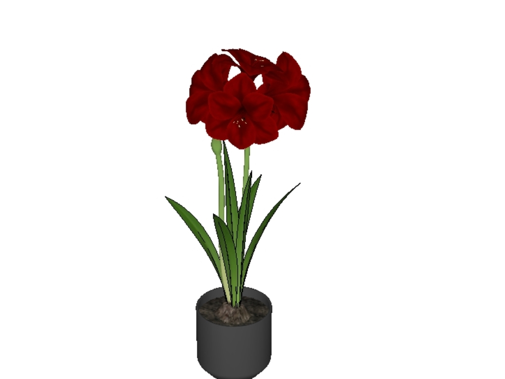 High definition 3d flowers with texture