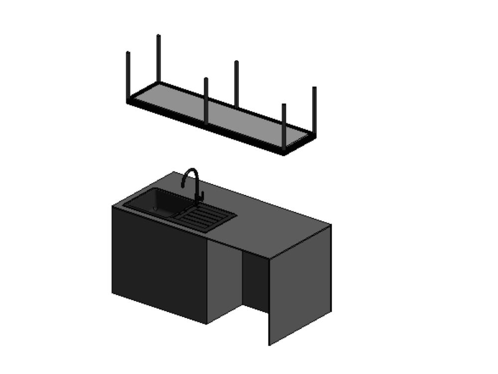 Parametric island kitchen revit