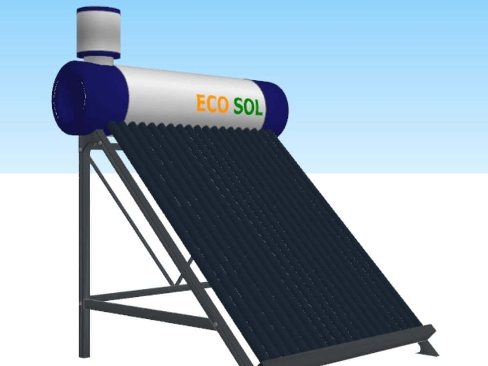 Solar water heater for sanitary installations