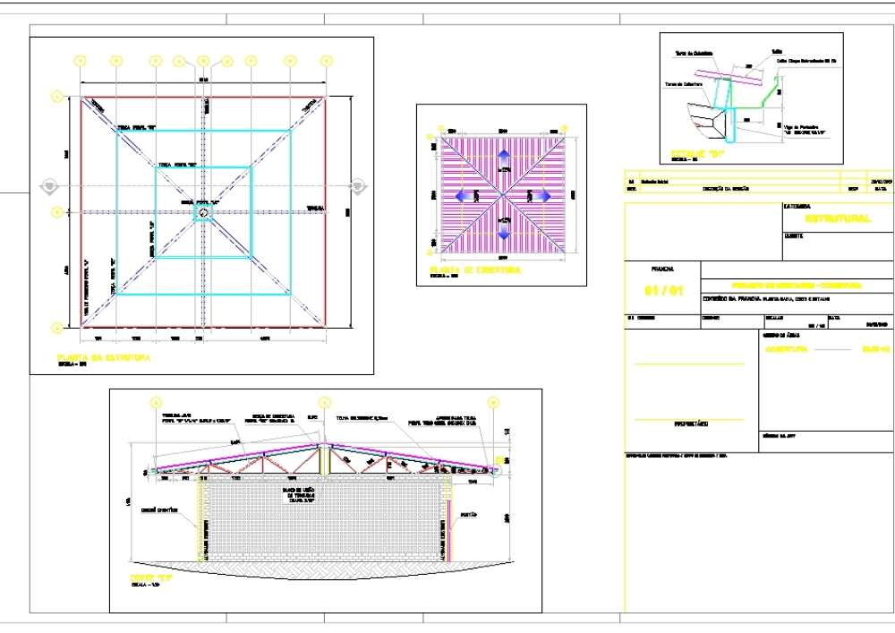 Estructura de cubierta metálica 4 aguas